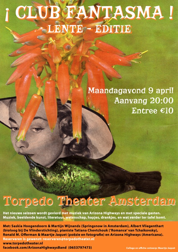 monday april 9 at 8pm catch that spring feeling at the most charming theatre of amsterdam with music poems butterflies and catch a glimpse of how we